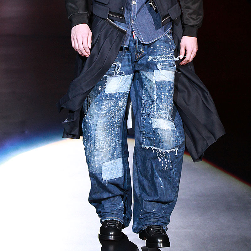 Jeans look, Dsquared2 herfst winter 2016 2017, ph. Mauro Pilotto