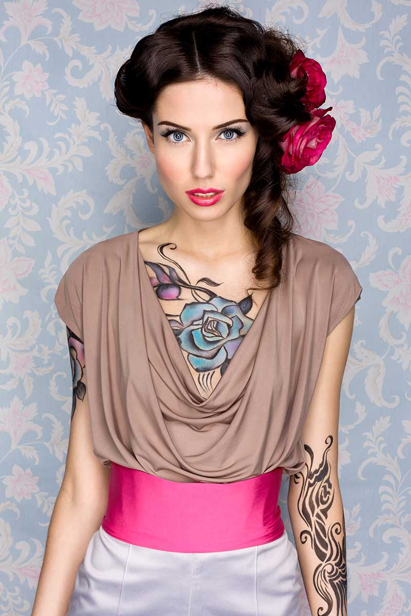 Tattoos in aquarelkleuren