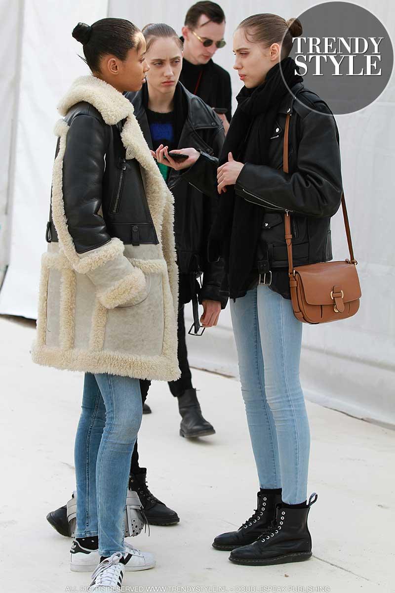 Modellen en winterjassen