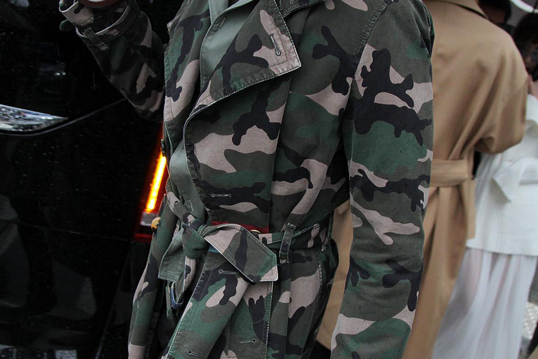 Jassen met camouflage print