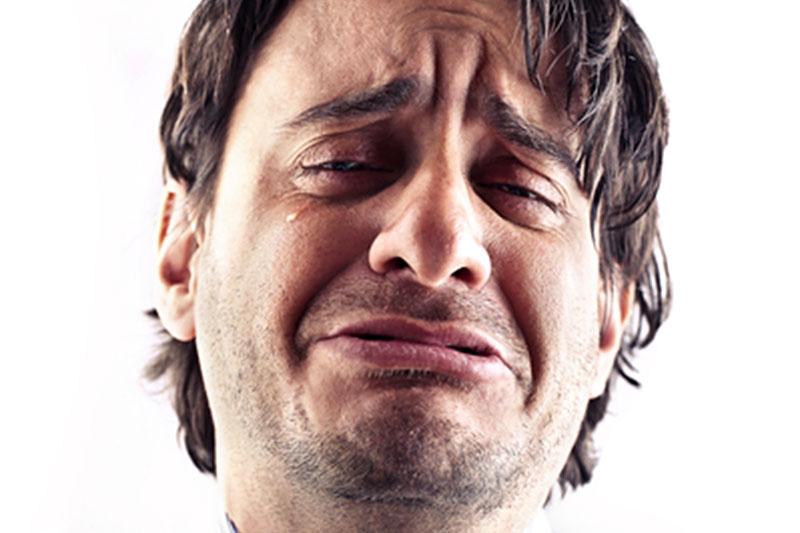 Mannen en huilen