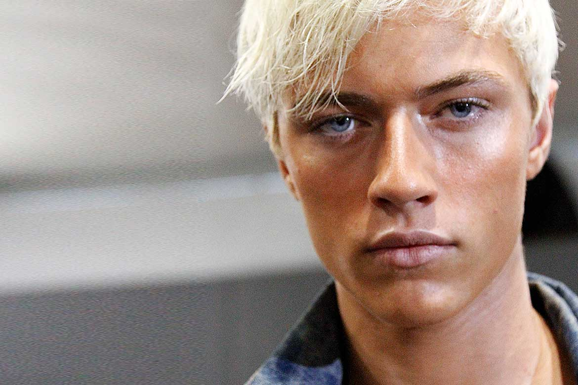 Lucky Blue bleached hair
