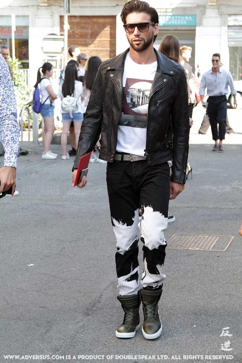 Spijkerbroeken met bleach