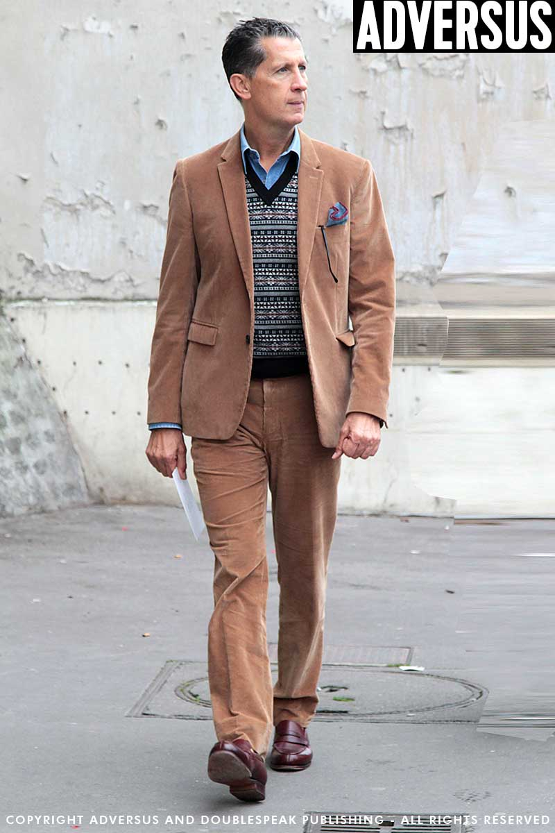 Streetstyle man winter 2017 2018. Super chic in corduroy