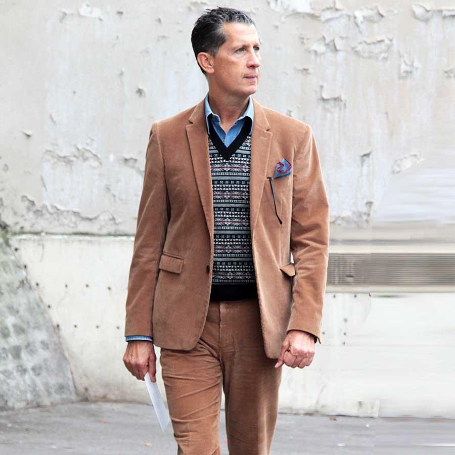 Streetstyle man winter 2017 2018. Super chic in corduroy