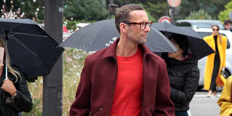 Streetstyle man. Modekleuren