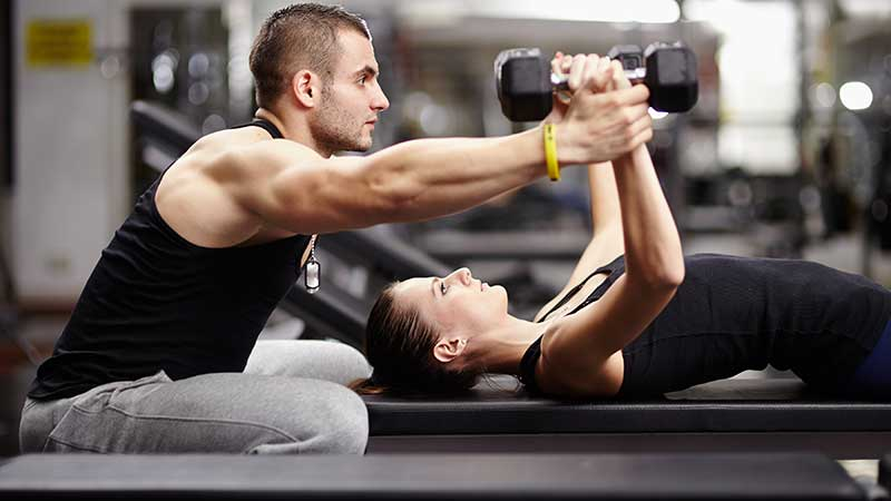 Fitness. Afvallen met behoud (of toename) van spiermassa