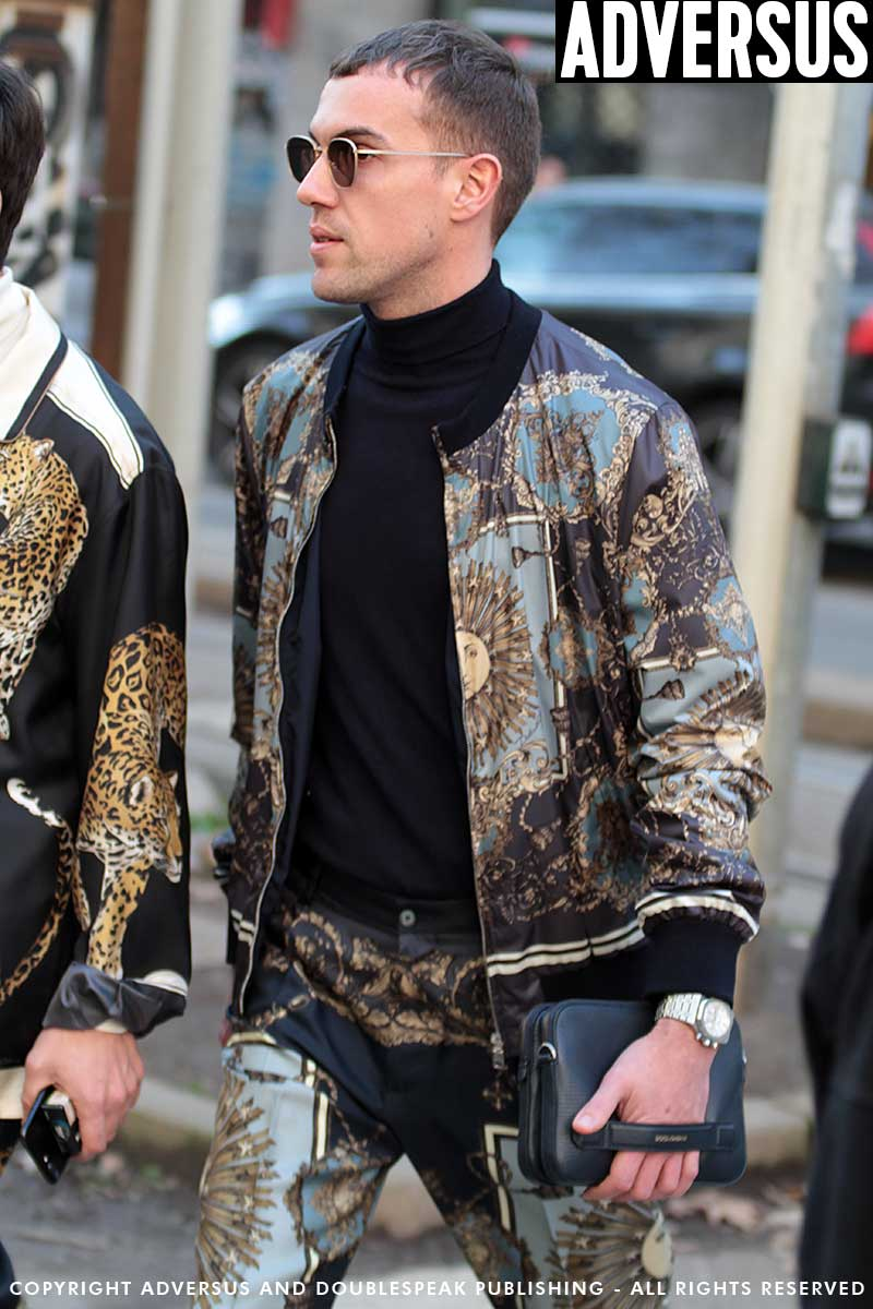 Mode trends en street style. Fantasieën voor hem