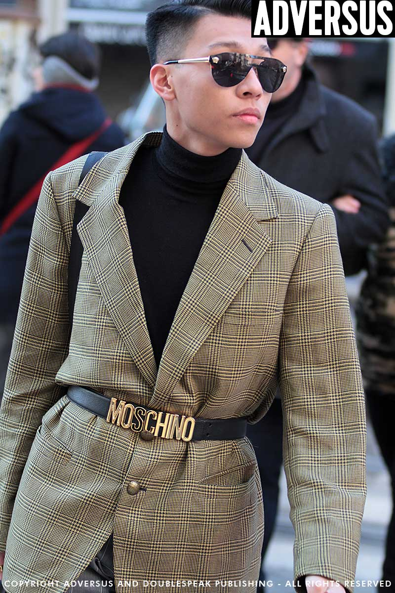 Mode trends en street style. Hip in houndstooth. Zo doe je dat
