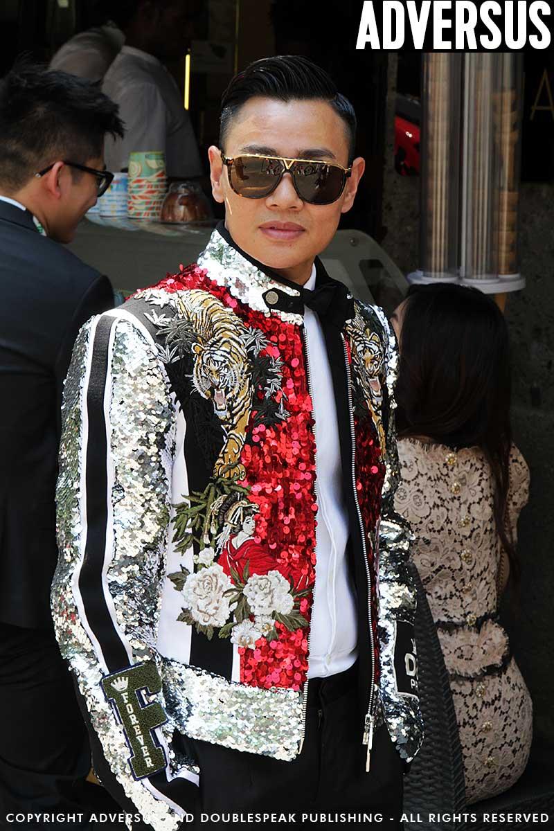 Milan Fashion Week Uomo zomer 2019. Street style mode