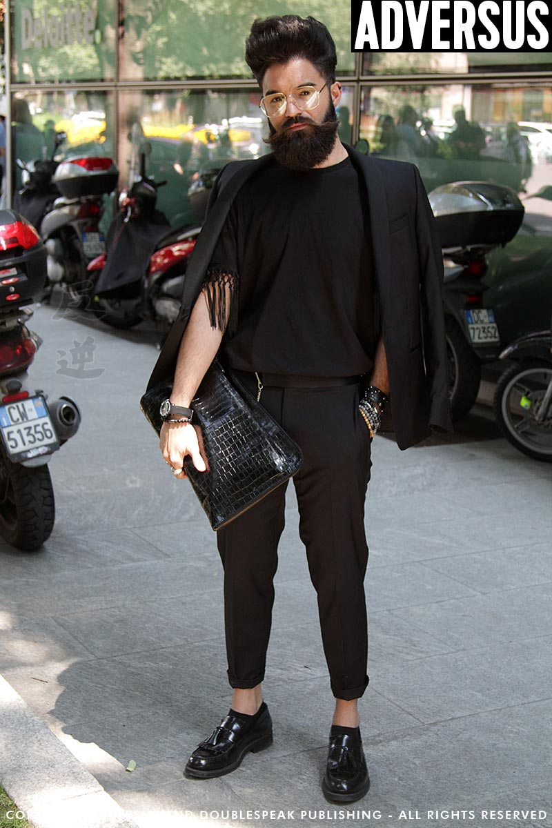 Street style herenmode. Neo dandy look