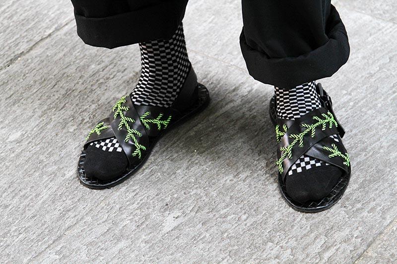 Schoenen trends man tijdens de Milan Fashion Week 2019