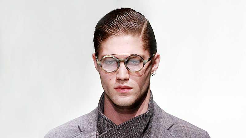 Gelkapsel heren. Fashion Show: Giorgio Armani