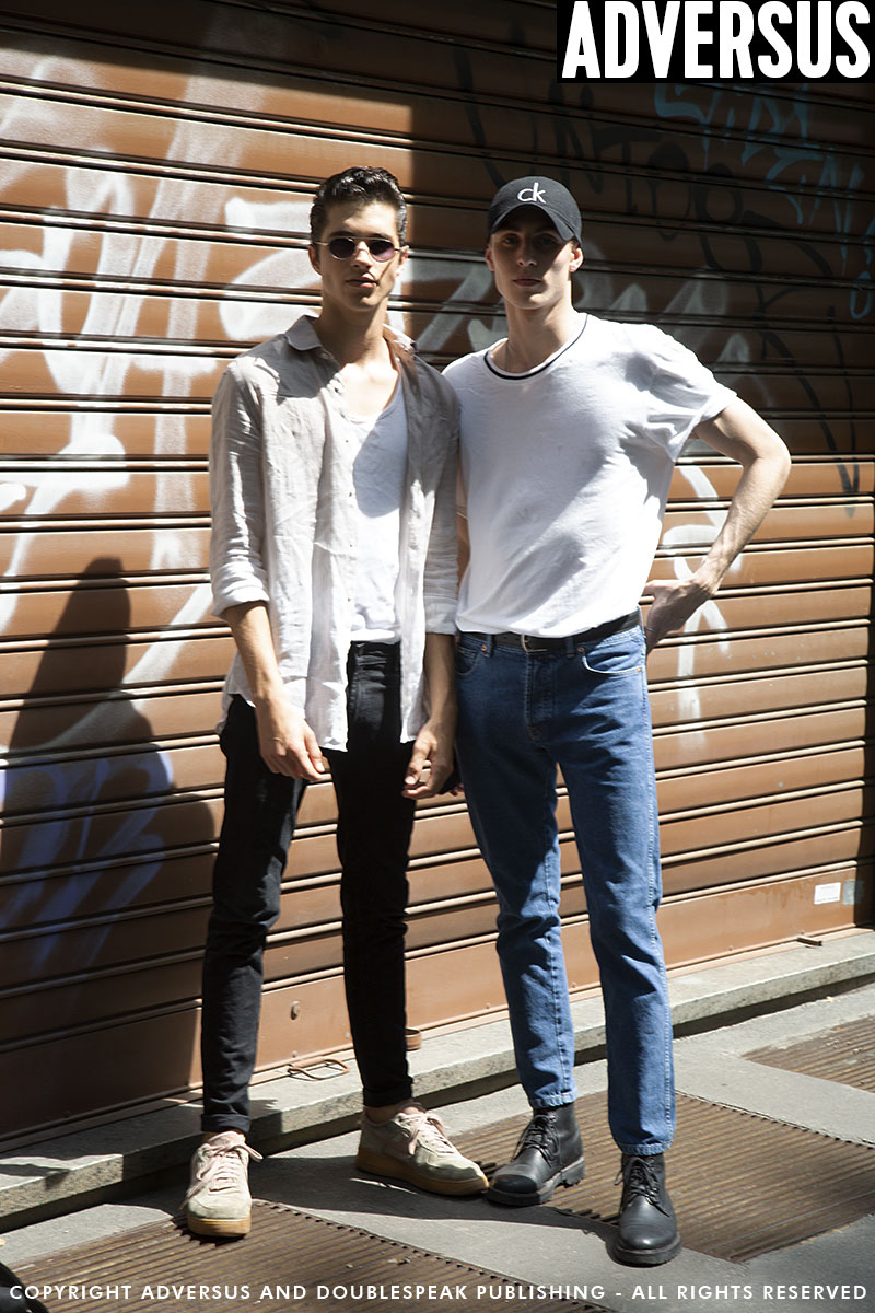 Street mode mannelijke modellen