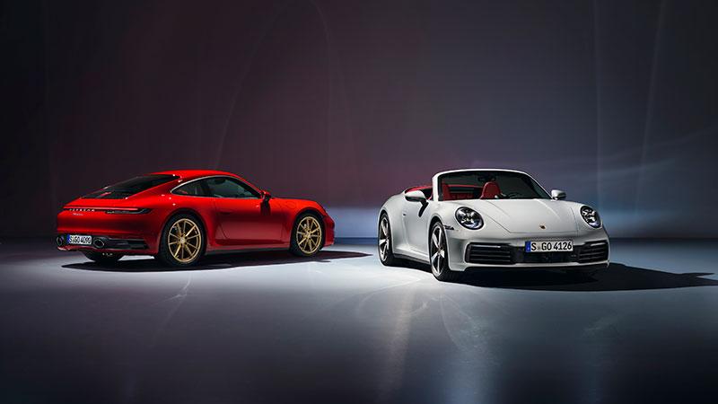 Porsche breidt 911-familie uit met Carrera Coupé en Carrera Cabriolet