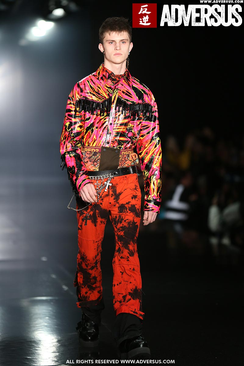 Modetrends man herfst winter 2019 2020. Modeshow: Dsquared2. Foto: Mauro Pilotto