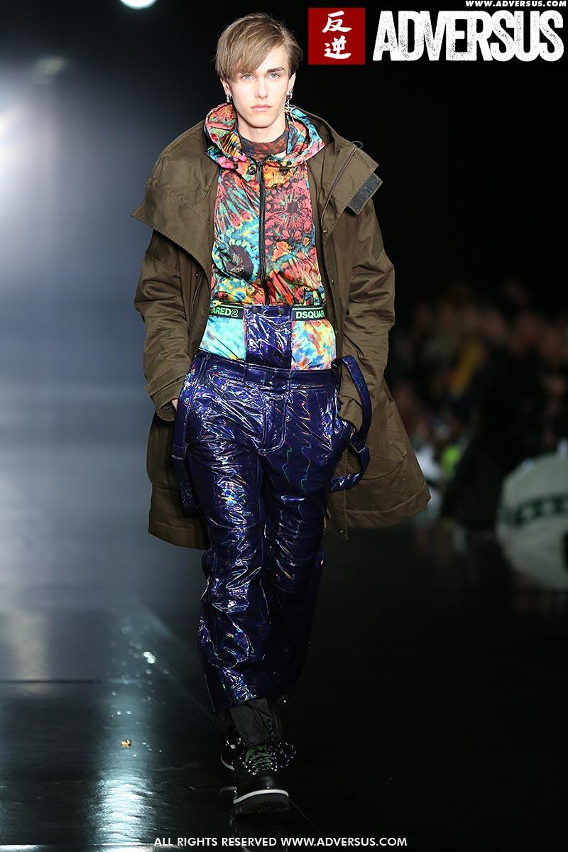 Modetrends man herfst winter 2019 2020. Modeshow: Dsquared2. Foto: Mauro Pilotto