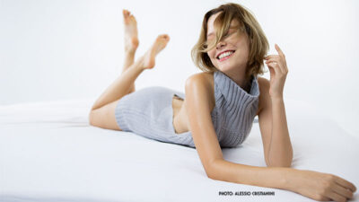 Hellen Beatryce in 'Virgin Killer Sweater'. Ons nieuwe cover model is… onstuimig
