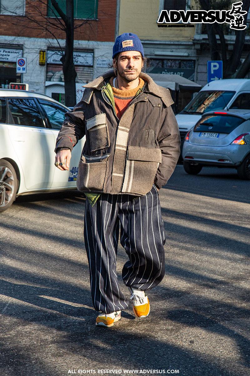 Modern clochard no thanks... - Mannenmode street style Milano - Foto Charlotte Mesman