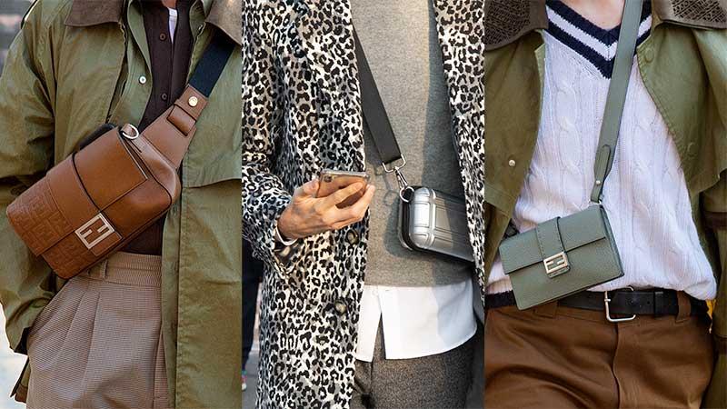 Streetstyle mode heren voorjaar 2020, Crossbody tassen