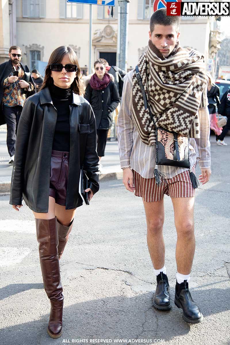 Streetstyle mode lente zomer 2020. Boxershorts zijn de nieuwe korte broeken