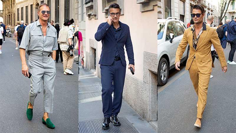 Streetstyle man zomer 2020. Moeiteloos chic in een casual pak