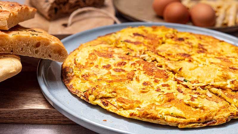 Rustieke omelet met peterselie