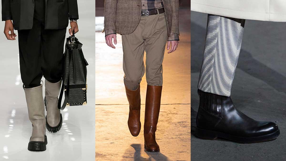 Schoenentrends man herfst winter 2020 2021. Klassieke Chelsea boots of moderne, hoge laarzen