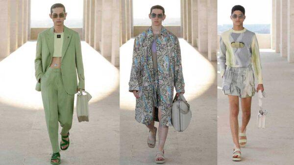 Fendi zomer 2022. Pastels en cropped jackets!