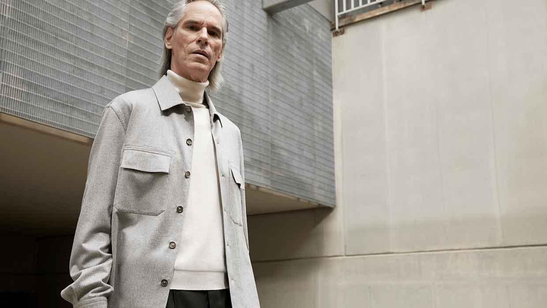 De New Jacket van Zegna. Een nieuwe manier van kleden voor herfst winter 2021 2022. Photo: courtesy of Zegna